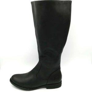 Born North Riding Boots Black Side Zipper 6.5 New